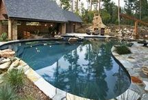 Poolscapes / I love different pool ideas. Dreaming of a pool space in my future.