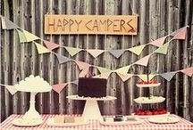 Birthday Three / a camping-themed birthday party for two little boys