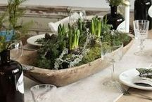 Dough Bowl Decorating / Ideas and tutorials for creating gorgeous centerpieces with dough bowls and trugs and wooden boxes
