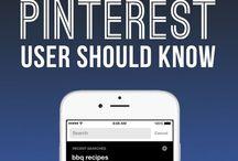 PINTEREST / Infographics, Numbers, Information regarding Pinterest.