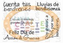 Dando Gracias / Set 2 x 3 de #Latina Crafter http://latinacrafter.com