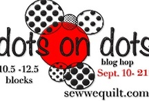 Dots on Dots blog hop in September 2012 / WE have over 90+ ladies who love DOTS,this is our dotty collection. All these quilters are dotty enthusiasts ....You too will be seeing dots. Corrie is leading us in cheer for D.O.T.S.  Raise your pom poms if you love DOTS....we see you lol / by Mdm Samm ...