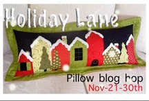 Holiday Lane Pillow HOP / This will be our last hop of the season. Jill from Jillily studio is sharing here lovely pillow pattern for this one. Nov 21-30th...YOU can sign up now...go to the link and check in with Pauline..( she is our cheerleader  for this event)  This pillow will most certainly put you into the holiday spirit... / by Mdm Samm ...