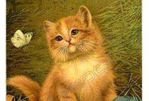 Printables ~ Vintage Kittens and Cats / by Kate Hickman