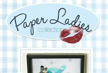 Paper Ladies -Collection / Cori Blunt from Chitter Chatter Designs ( applique artiste) and Mdm Samm from Sew we stitch...together for a year of Paper Ladies...that is what started it all. We then realized our taste was so similar we formed a creative bond that has no end! All of our patterns show you step by step to create what we do...that is our promise!  / by MADAMESAMM