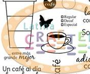 Coffee Lovers / Projects with our Coffee Collection. Coffee Lovers. Stamps. Bilingual.