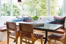 Dining Room | Eat In Kitchen | Dining Space / Modern Dining Room, Eclectic Dining Room, Casual Dining Room, Eat-in Kitchen, Banquette in kitchen, bench seat in kitchen, casual airy eat-in, space that we dine in, minimal dining room, etc.