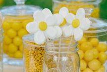 2015 Kenzie Daisy/Sunflower Open House / High School Graduation Party/ Open House  ~ Sunflower, Daisy, Yellow Theme ~ / by Tina Stant Sulfridge
