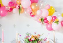 Balloon Decorations / Pretty ways to incorporate balloon decorations into your celebration! Balloon garlands, balloon arches, and more!