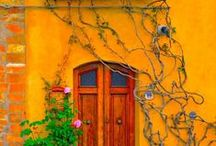 Striking Colors for Ideas to Decorate and Paint / Color combinations that intrigue me. / by Brenda Morris