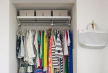 the decluttered closet / #declutter #closet #organizing #clothing #hanging #inspiration #folding / by Bneato Bar