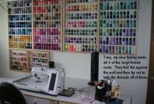 Sewing & Craft Room / If I Had a Craft Room These DIY Post Would Look Like Good Ideas. / by Brenda Morris