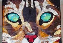 Quilts - Cat Themed / Quilts with cats as their subject matter. / by Brenda Morris