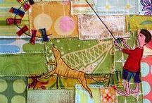 Quilts - Animal Themed / If it walks, swims, crawls or flies.  I've put it here. / by Brenda Morris