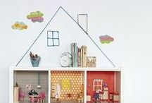 kids  |  dollhouse diy / great ideas for making a dollhouse for your kids