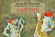 Eclectic Auction 2015 / Garth's Auctions is one of the largest international auction houses in America. We accept consignments, and if you are unable to get to an auctions, we take phone and internet bids. All auctions are streamed live online. This particular auction features furniture, decorative arts and collectibles, some of which are pictured below. For more information, click through one of the pins to get to our website.