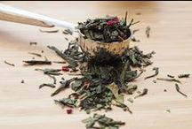 Our Exotic Teas / Take a look at our selection of over 60 different, rare and exotic teas. This ranges from whole leaf green teas, jasmine teas, oolong teas to fruit infusions, finest black and white teas and even our hand-tied flowering tea.