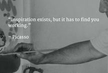 #Pinspiration / Get Inspired with motivational quotes from the greatest thinkers and doers of history.