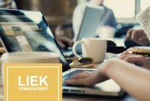 Branding Liek Communiceert / Logo Liek Communiceert  |  Liek geeft jou tips over de social media kanalen, het is ook mogelijk voor ondernemers om het beheer uit handen te geven. LIEK zorgt ervoor dat je tijdlijn een feestje wordt!