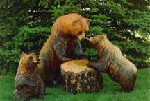 Chainsaw & wood carving. / by Mike & Melissa Baucum