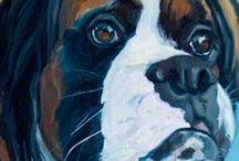 Contemporary Pet Portraits by Evelyn McCorristin Peters / Contemporary Pet Portraits, Animal  Portraiture, visit http://evelynmccorristinpeters.com
