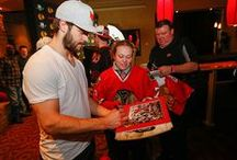 Blackhawks In the Community / Check out what the players are doing on their time away from the rink. Plus, check out the newest items available at the Charities Auction Table at every Blackhawks home game.