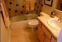 BATHROOM IDEAS (small bathroom makeovers) / Small bathroom ideas / by Mike & Melissa Baucum