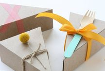Arty Pie Boxes and Signage / Great ideas for packaging pies and signage! #pies #pieboxes