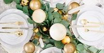 Festive Holiday Tablescapes / How set the table for the holidays.