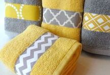 Grey & Yellow Home Decor / Please visit www.lsfabrics.com for more grey and yellow fabrics.