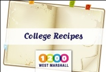 College Recipes / by 1200 West Marshall