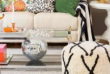 Living Room & Living space / Beautiful living rooms and home decor ideas. Please visit our showroom in Atlanta or our website at www.lsfabrics.com for fabrics, trim, furniture and rugs.