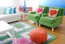 Multi color home decor / Decorating with color
