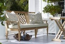 Bunny Williams Outdoor for Century / We are thrilled to have just partnered with Bunny Williams on a collection of outdoor.  From woven to teak, her pieces are timeless and perfect for outdoor spaces from the Hamptons to Marin and everywhere in between.