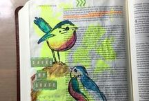 Illustrating My Faith by RobinLeeHatcher.com / These are my own Bible Art Journaling efforts.