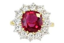 Rubies / Rubies arouse the senses, stir the imagination, and are said to guarantee health, wisdom, wealth and success in love. It is harder than any natural gemstone except diamond, which means a ruby is durable enough for everyday wear. Fine-quality ruby is extremely rare, and the color of the gem is most important to its value. The most prized color is a medium or medium dark vivid red or slightly purplish red. / by Shreve, Crump & Low