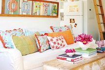 Ready for some color / New color inspiration for living room accents.