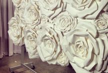 Paper Flowers and Walls / Gorgeous ideas for a flowers and backdrop of floral decor / by Trista Finch