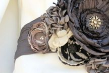 Fabric Flower Love / I think I can make these!!  / by Trista Finch