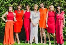 modern wedding | bridesmaids & flower girls / Chic bridesmaids dresses