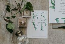 Invitations & Pretty Paper / wedding invitations, wedding programs, wedding stationery, rustic wedding invitations, elegant wedding invitations, botanical wedding invitations, earthy wedding invitations