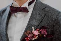 Groom Style / men's wedding fashion, wedding suit, wedding suspenders, boutonniere, tie, groom style, groomsmen, groom attire, groomsmen attire