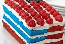 Red, White & Blue Recipes / Get patriotic with our inspiration for burgers, sides and red, white and blue-inspired recipes that commemorate Memorial Day, 4th of July and Labor Day. These recipes are perfect for your next summer holiday BBQ or picnic! / by McCormick Spice