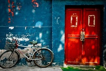"""Door to Door / """"Entering or exiting through a doorway serves as an 'event boundary' in the mind, which separates episodes of activity and files them away."""" / by Jordan Bower"""