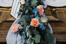 Blue Wedding Inspiration / blue wedding details, blue wedding ideas, blue wedding flowers, blue wedding inspiration