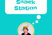 Snack Station / In a Montessori home or Montessori school there is a snack station set up. The kids can help themselves to snacks. healthy snacks for kids, kids snacks, independent kids, food area for kids, kids in the kitchen, montessori home, montessori kids, snacks for a snack station