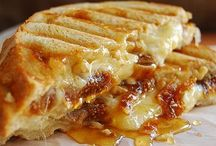 Panini Cafe / When you have the world's greatest breads, cheeses and meats within arms reach you know you're going to make a killer panini.  The rich, ooey, gooey, melting, crunchy bread type.  These could very well be our favorite pins.