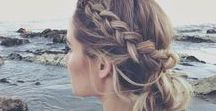Easy Hair Style Ideas / Easy hair style, hair inspo, easy up-dos, hairstyles. Perfect hairstyle inspiration for everything from professional hairstyles to use for those video blog days,  to no fuss hairstyles for a night out with friends