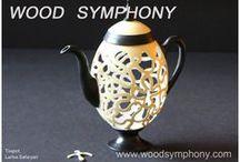 Teapots / www.woodsymphony.com / by LARISA SAFARYAN