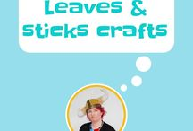Leaves and Sticks ~~ Crafts and Art / Making art with leaves and sticks, autumn crafts, fall crafts, crafts with sticks, sticks crafts, leaves crafts,